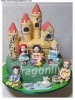 Royal Nursery Cake by dragonflydoces