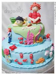 Ponyo Cake by dragonflydoces