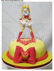 Sailor Moon Cake by dragonflydoces