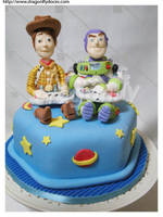 Toy Story Cake by dragonflydoces