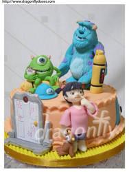 Monsters Inc Cake by dragonflydoces
