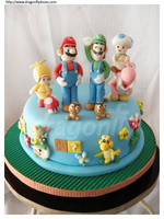 New Mario Cake by dragonflydoces