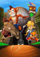 Crash Bandicoot - Wild Hog by heiccs