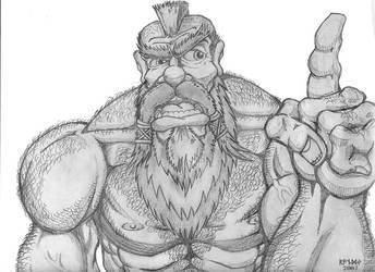 Sketch -- Kolgar Rockknuckles by RandverDansson