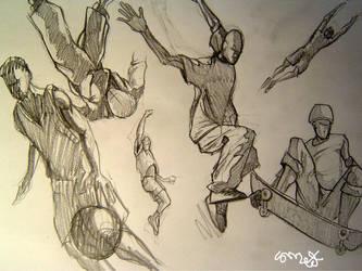 random practice sketches .. by smeetrules