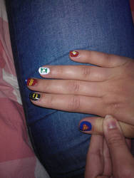 Geeky nail art by fregius