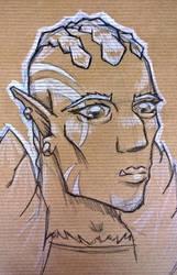 Go-Ang-Umra, Half-Orc Ranger by fregius