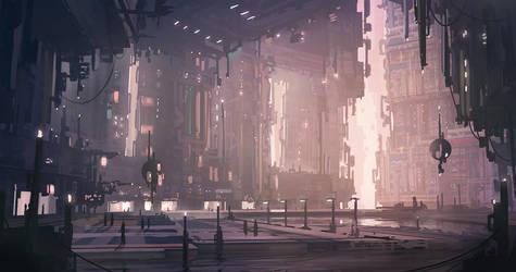 Alien Shoppping mall speedpaint by Tryingtofly