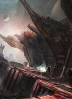 Space pirate hideout by Tryingtofly