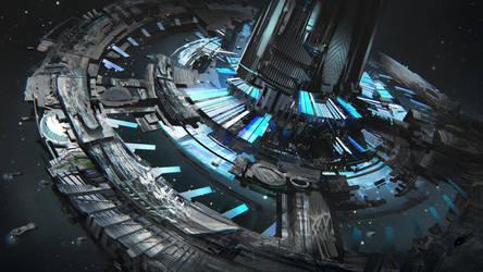 Alpha centauri station by Tryingtofly