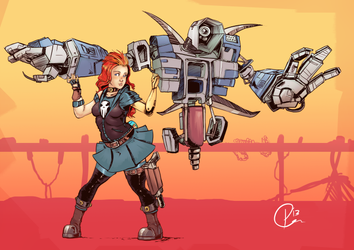 BOARDERLANDS 2 FUN TIMES WITH ROBOTS by UNiCOMICS-Chowkofsky