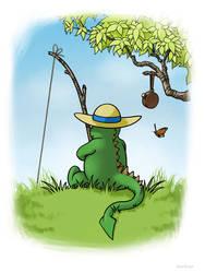 Dragon Gone Fishing by MatsOhrman