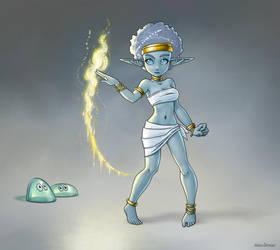 Shimmer, Svirfneblin Sorceress by MatsOhrman