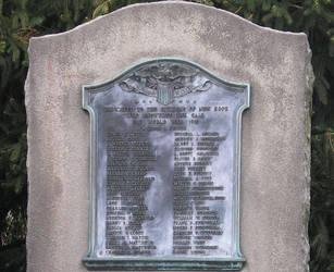 WWI plaque by steward