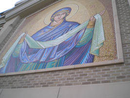 Closeup of iconography by steward