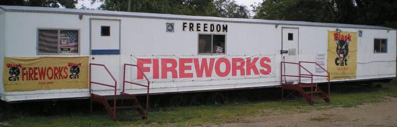 Local fireworks by steward