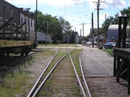 Tracks towards town by steward