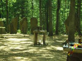 Masks and Memorial altars by steward