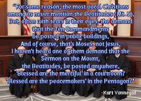 Beatitudes in Court by steward