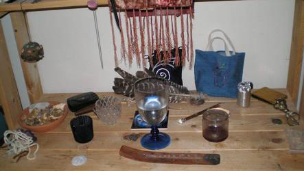 Feri and Healing Altar by steward