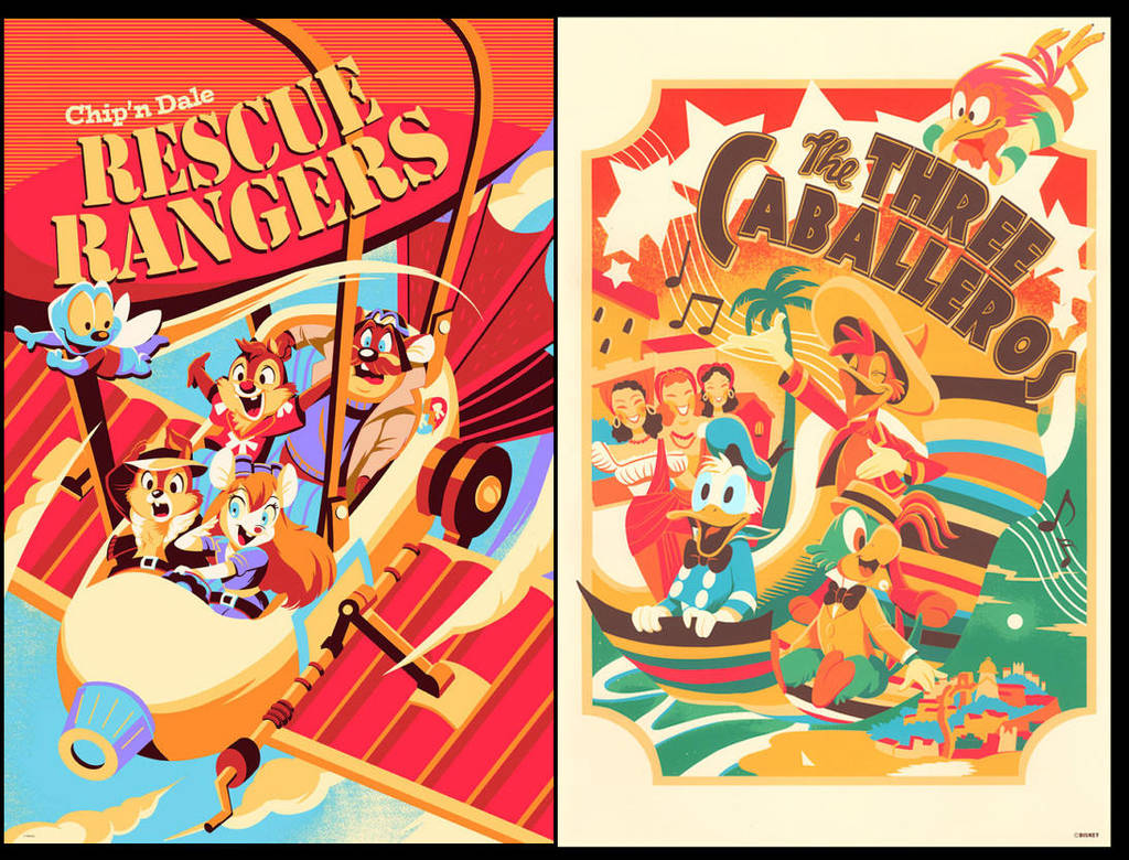 Disney Official license prints by hakutooon
