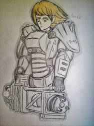 Petra Ral - Brotherhood of Steel T-45d Power Armor by Fil101