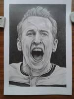 Portrait of Harry Kane by davidsteeleartworks