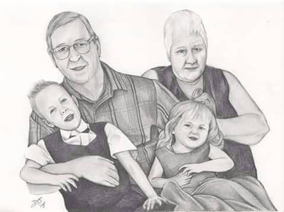 Family portrait by davidsteeleartworks