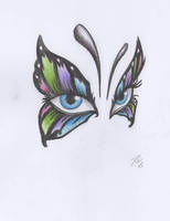 Butterfly Eyes by davidsteeleartworks