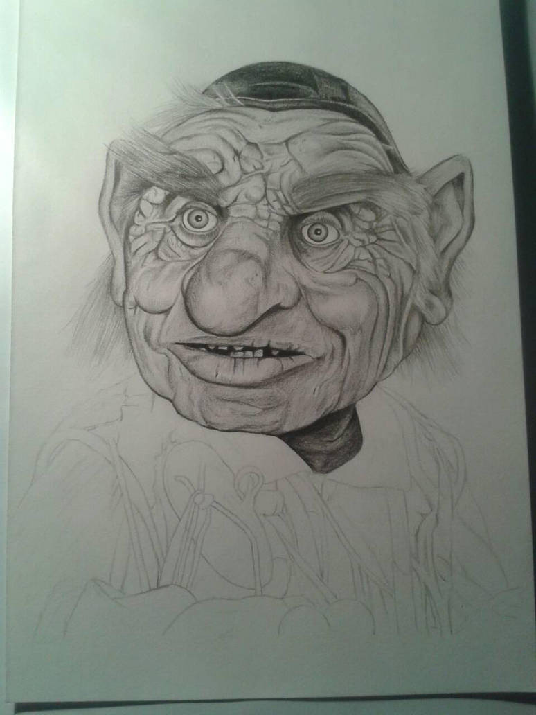 WIP Hoggle from Labyrinth by davidsteeleartworks