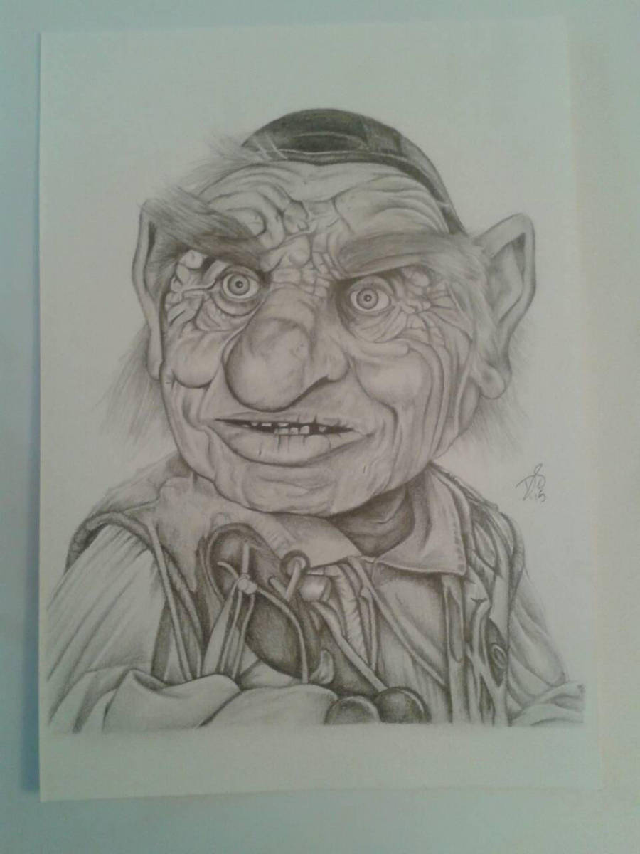 Hoggle from Labyrinth by davidsteeleartworks