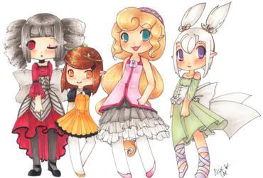 Four Little Faires by ArkyLarky