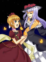 Umineko Secret Santa 2011 - Beato and Virgilia by MooingMage