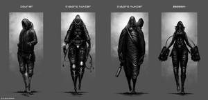 Cyberpunk Character Concepts by artificialdesign