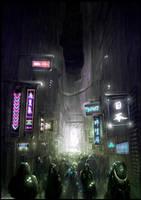 Cyberpunk Book Cover by artificialdesign
