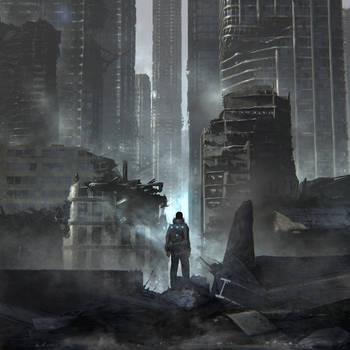 Jun Mitsu - 'Dystopian' - album cover by artificialdesign