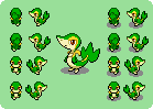 Snivy Overworlds by Kyle-Dove