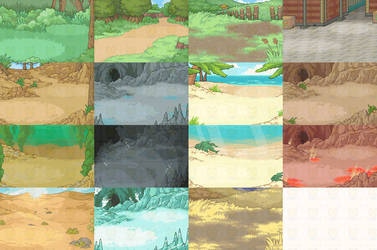 Latest Battle Backgrounds by Kyle-Dove