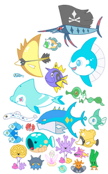 Sea Life Chart WIP by Kyle-Dove