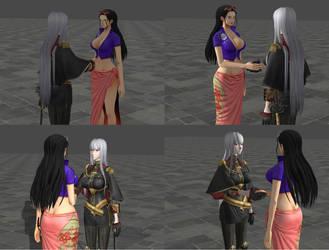 Nico Robin meets Selvaria Bles by P4enski