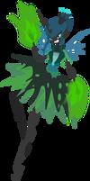 Queen Chrysalis: humanised gala dress by Senwyn1