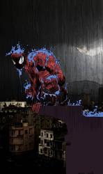 Spiderman Rain by Groundbase