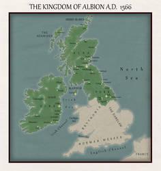 Kingdom of Albion 1566 Map by Rarayn