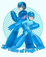 25 Years of Mega Man by marowar