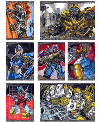 2nd batch of Transformers sketch cards by Kapow2003