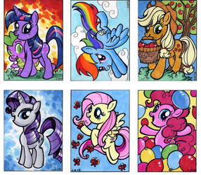 My Little Pony sketch cards by Kapow2003