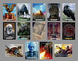Game of Thornes sketch cards for Rittenhouse by Kapow2003