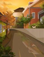 Original Art : Backyard waterway by VanessaFardoe