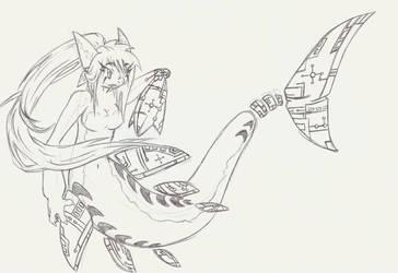 BioTech Shark Girl by CelestialTentails