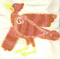 embroidered firebird by emortalcoil